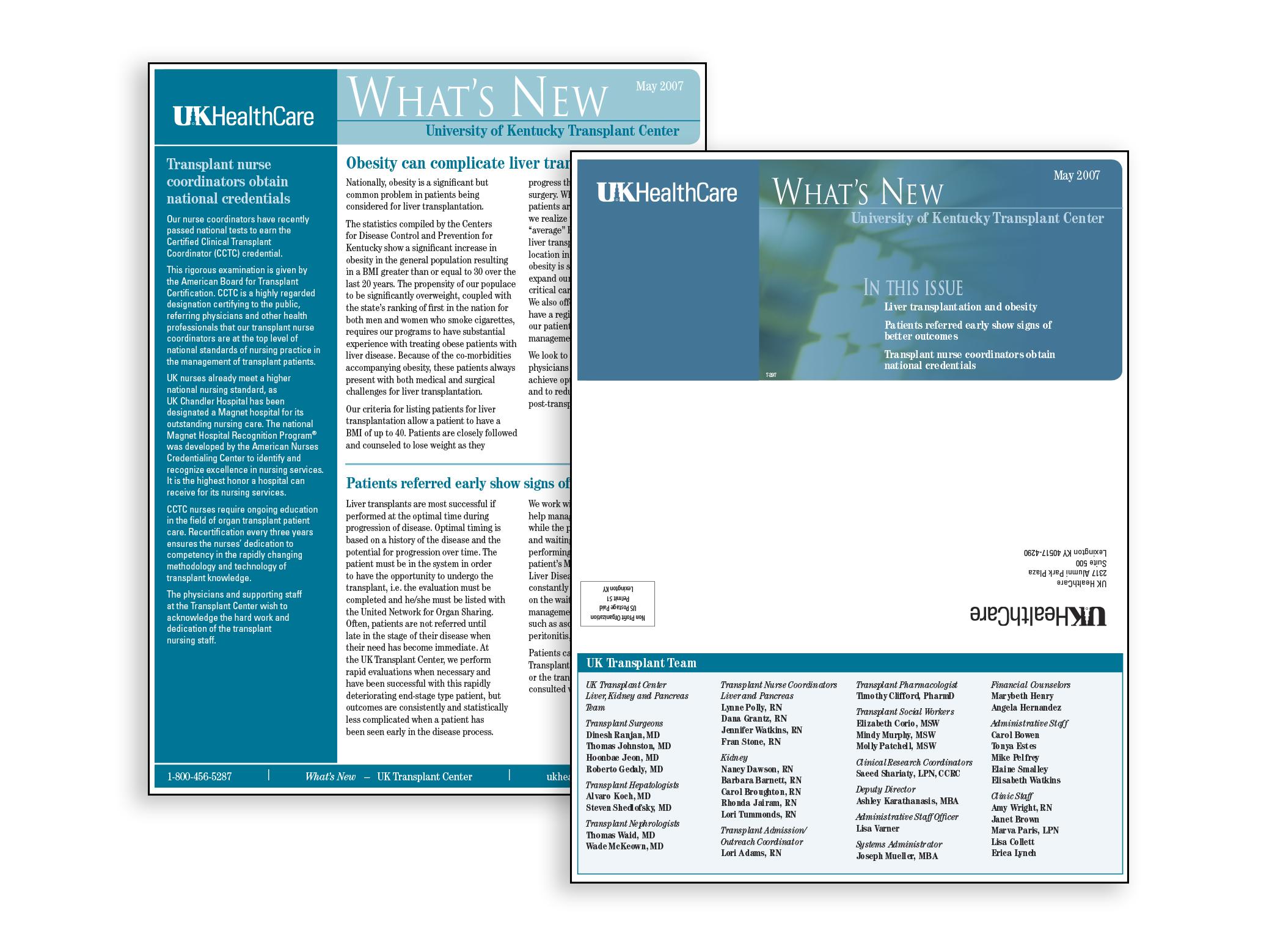 UK HealthCare Newsletter Geri Zakharia